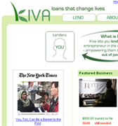 Kiva.org front page