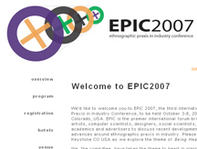 EPIC 2007 webpage